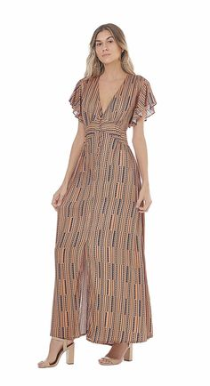 Vestido Longo Decote V Abertura Lateral Paprica I Dress, Wrap Dress, Casual Dresses, Fashion Dresses, Designs For Dresses, Fashion Beauty, Womens Fashion, Casual Chic, Casual Looks