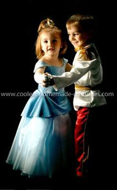Homemade Cinderella and Prince Charming Couple Costume cute!