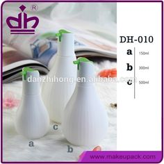 Shantou new white plastic hair gel bottle with pump dispenser