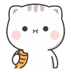 Cutie Cat-Chan four Cute Bunny Cartoon, Cute Cartoon Pictures, Cute Love Pictures, Cute Love Cartoons, Cute Images, Cute Love Gif, Cute Cat Gif, Cute Cats, Cute Bear Drawings