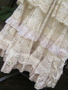 Vintage Kitty vintage crochet romantic full by sistersroseandruby, $329.00