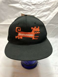 14e46a59 Nickelodeon Hat Vintage 90s Tv Dog Television Snapback New with Tags  #nissin #TruckerHat
