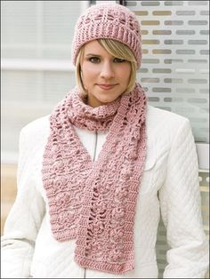 Lace Hat & Scarf Crochet Pattern