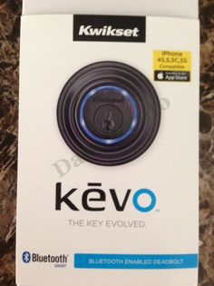 Keyless entry into your home #bluetooth  +Kwikset  #kevo   #vacation   #petsitters   #kids   #fobs   #smartphone   #iphone   #technology   #app