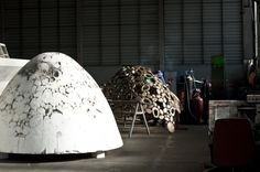 Public artworks coming off their moulds at @UAP_PublicArt - headed for the #Pilbara