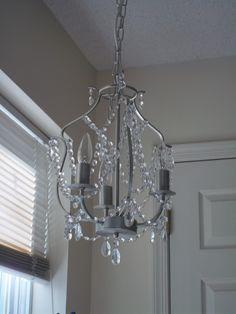 my faux chandelier in my studio