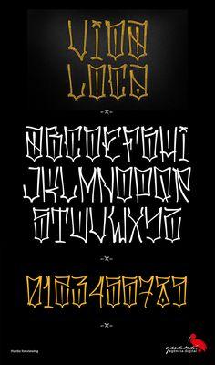 Vida Loca Type on Behance Chicano Tattoos Lettering, Tattoo Lettering Styles, Cursive Tattoos, Script Lettering, Lettering Design, Calligraphy Tattoo, Letter Tattoos, Font Tattoo, Lettering Tutorial