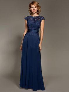 A-line/Princess High Neck Sleeveless Applique Floor-length Chiffon Mother of the Bride Dresses