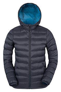 Mountain Warehouse Seasons Women Zip Padded Jacket Insulated Showerproof Black 2
