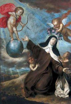 Transverberación de Santa Teresa - Monasterio de la Anunciación de Nuestra Señora de Carmelitas Descalzas de Alba de Tormes. - Antonio Pereda 1642 Toledo