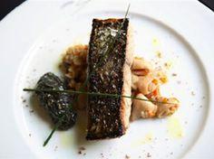 Receta de Suprema de corvina salvaje, risotto de chipirón y ali-oli de su tinta   Pescados - A FUEGO LENTO