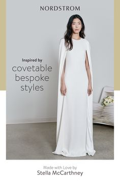 Discover Made with Love by Stella McCartney. A new collection that reimagines some of Stella's most celebrated silhouettes for the confident modern bride. Find the one at Nordstrom. Pretty Dresses, Beautiful Dresses, Bridal Gowns, Wedding Gowns, Nordstrom Dresses, Evening Gowns, Ball Gowns, Stella Mccartney, Sexy