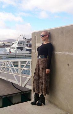Vintage Pleated Midi Skirt by MadeInRetroShop on Etsy