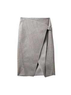 How to Layer a Skirt Over Pants or a Dress - Gray Envelope-Fold Striped Skirt, $537; at MATCHESFASHION.COM