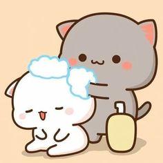 Cute Bunny Cartoon, Cute Kawaii Animals, Cute Cartoon Pictures, Cute Love Cartoons, Cute Love Pictures, Cute Love Gif, Cute Images, Cute Bear Drawings, Cute Cartoon Drawings