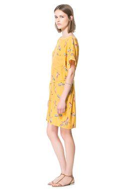 Image 1 of BIRD PRINT DRESS from Zara