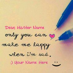 Create Your Love Note For Cute Girlfriend With Name Greeting Card Maker, Online Greeting Cards, Cute Couple Names, Love Heart Pics, Happy Dp, Birthday Wishes With Name, Birthday Cake Writing, Happy Birthday Cake Images, Boyfriend Names