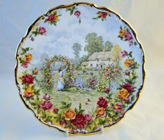 old country roses christmas plate | Royal Albert Plate. A Celebration of The Old Country Roses Garden ...
