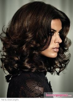 Rich Dark Brown Hair Color | rich highlights scattered on a dark brown base add richness and depth ...
