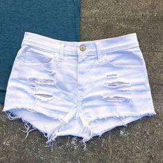 4306cad263 8 Best white jean shorts images | White denim shorts, White jean ...