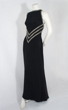 """Bob Mackie beaded evening gown, 1990s    """"A woman who wears my clothes is not afraid to be noticed"""" Bob Mackie"""