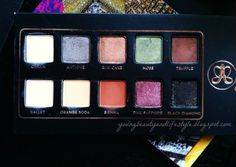 Anastasia Lavish Palette. Eye Shadows. Review. | youngbeautyandlifestyle.blogspot.com