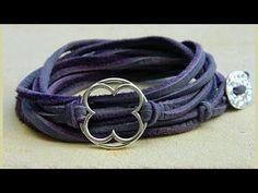 ▶ Jewelry How To - Make Leather Wrap Bracelets - YouTube