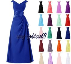 New Chiffon Wedding Formal Evening Party Bridesmaid Ball Gown Prom Dress 6-22