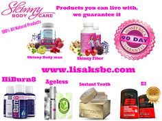 All Products are same price all natural NO really no stimulants ! 30 & 90 Day Money Back You will be Amazed www.lisaksbc.com