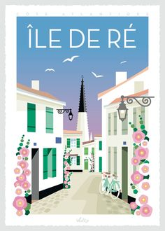 Illustration from the collection by Mateo Vullo : original posters and postcards, vintage, colored and quirky drawings in La Rochelle and Toulouse, France Impression Offset, Illustrations, Toulouse, My Room, Vintage Posters, Poster Prints, Advertising, Deco, Photos