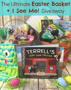 Need some ideas for pulling off the ultimate Easter basket? I've got just what you need! Head over to the blog to check out what goes into my ultimate Easter baskets and even enter to win an I See Me! personalized book of your choice! They make great Easter basket features! #Easter #Easterbasket #giveaway #entertowin #personalizedbook #iseemebooks
