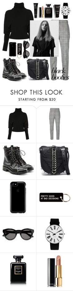 """Black Booties"" by bbywolfy ❤ liked on Polyvore featuring Creatures of the Wind, Alexander Wang, Speck, Various Projects, Givenchy, Rosendahl and Chanel"