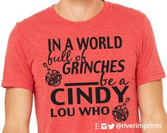 In A World of Grinches short sleeve tee shirt by RiverImprints