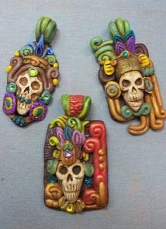 Mayan Skulls Pendant by AstridMakosla.deviantart.com on @deviantART