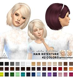 Miss Paraply: Hair retexture Maysims 46 • Sims 4 Downloads