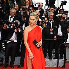 Kate Moss lors de la montée des marches
