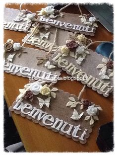 idea for home decor ♥ Metal Crafts, Felt Crafts, Paper Crafts, Big Shot, Decor Crafts, Diy And Crafts, Home Decor, Shots Ideas, Handmade Gift Tags