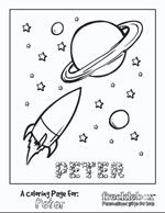 personalized space cadette coloring page frecklebox frecklebox