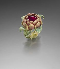 KEVIN COATES VII ROSICRUCIA 18K gold with patination, rose-cut ruby (filled and foiled)