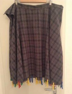 crafteln: Tutorial: Saumband mit Schrägband für weite (Teller-)Röcke