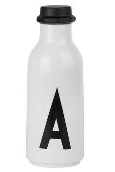 Design Letters - Arne Jacobsen drinking bottle, A to Z