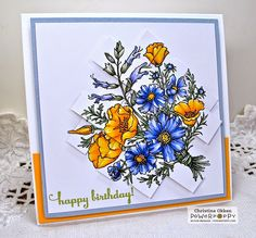 Power Poppy - The Blog: Inspire Me Monday: Layered Paper Strips (great tutorial for layered paper strips by Christine)
