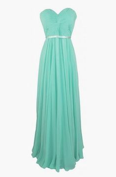Strapless Pleated Evening Prom Dress