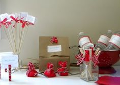 homework: today's assignment - be inspired {creative inspiration for home and life}: Celebrations: red bandana party favors
