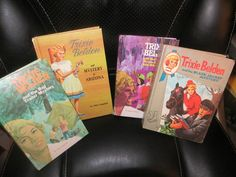 4 Trixie Belden Mysteries 1960s Bob White Cave Red Trailer Black Jacket Arizona
