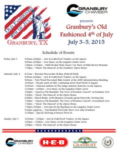 july 4th events in texas