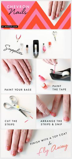 DIY chevron manicure // super easy nail art how to