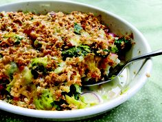 Brussels Sprout Gratin with Potatoes and Spinach from Mollie Katzen's THE HEART OF THE PLATE #MeatlessMonday