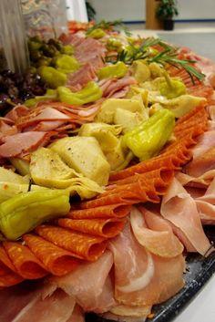 wedding food displays   Antipasto display.   Wedding/Bridal shower food