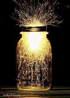 Mason jar idea Sparklers!